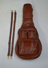 More details for guitar case leather, soft case, guitar bag, leather case
