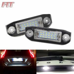 2pcs LED License Plate Light High Power Xenon White For Volvo S60 V60 2011-2015