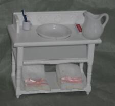 Liebe HANDARBEIT 46091 Waschtisch Waschbecken Erle 1:12 Puppenhaus # 0760 NEU