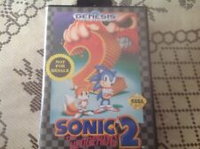 Sonic the Hedgehog 2 Sega Genesis 1992 with manuel and case