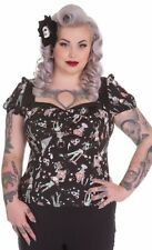 Hell Bunny Cotton Blend Fitted Tops & Shirts for Women