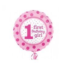 Amscan 3254001 1. Geburtstag Girl Folienballon