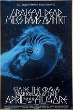 Grateful Dead Miles Davis  Stone the Crow Original 1970 Concert Promotion Poster