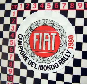 World Rally Champions 1980 Window Decal - Fiat 500 126 650 850 800 600 131 132