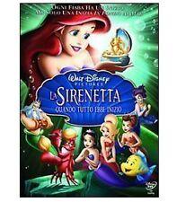 DISNEY DVD La sirenetta 3 - quando tutto ebbe inizio con SLIPCOVER