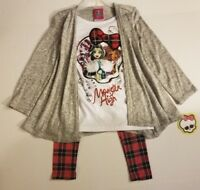 MONSTER HIGH Sweater Tunic and Leggings Set XS 4/5 NWT *FAST SHIPPING*