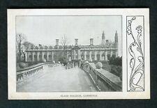 c1910 View of Clare College Cambridge