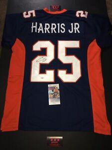 Chris Harris Jr Broncos  Autographed Sz XL Jersey Football JSA Certified