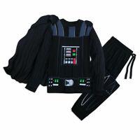 Disney Store Darth Vader Pajama Set Men's Star Wars Costume Cape PJ's Sleepwear