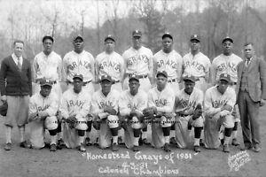 1931 Homestead Grays Team PHOTO  Best Ever Negro League Baseball Stars Champs