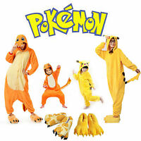 Womens Mens Boys Girls Cute Pokemon Costume Pajamas Pikachu Cosplay Kigurumi New