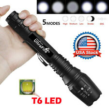 Tactical 350000LM Zoomable Focus LED  High Power Flashlight 18*65*0 Torch USA