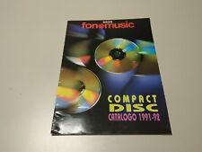 0220- CATALOGO COMPACT DISC FONOMUSIC 1991/1992 16 PAGINAS