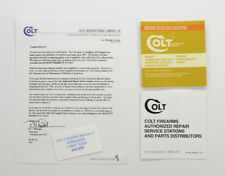 Colt Diamondback, D-Special, Agent, Cobra etc. 1984 Paperwork Package.