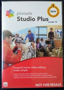 Pinnacle Studio Plus Version 10 Video Editing Software, Open Case/Never Used