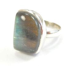 Labradorite Statement Sterling Silver Fine Rings