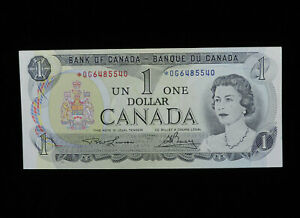 1973 $1 Dollar Bank of Canada Banknote Replacement Bill *OG 6485540 AU Grade