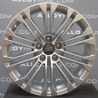 "GENUINE AUDI A4 8W 19""INCH 10 DOUBLE SPOKE SILVER SINGLE SILVER ALLOY WHEEL X1"
