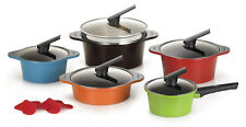 Happycall Hard Anodized Ceramic Nonstick Pot Set, Cookware 5 Set /Assorted Color