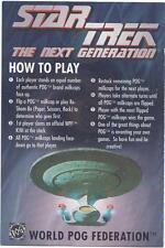Star Trek TNG The Next Generation World POG Federation checklist card 1995