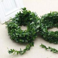 Guirlande Vert Feuille Fer Câble Artificiel Mariage Fête Fit pour DIY Floral