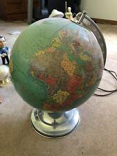VINTAGE LIGHT-UP WORLD GLOBE 50's/60 Works Well