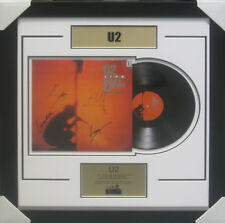 U2 BAND SIGNED FRAMED BLOOD RED SKY ALBUM COMPANY CERTIFICATE OF AUTHENTICITY