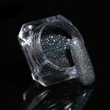 1G Black Holographic Nail Glitter Powder Shiny Chrome Pigment Dust Nails Tips