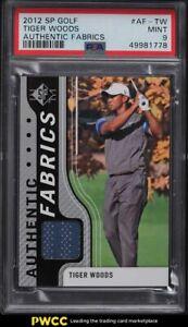 2012 SP Authentic Golf Fabrics Tiger Woods PATCH #AF-TW PSA 9 MINT