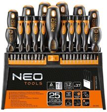 NEO TOOLS PROFESSIONAL SCREWDRIVERS SET BITS 37 PCS STAND MAGNETIC OIL RESISTANT