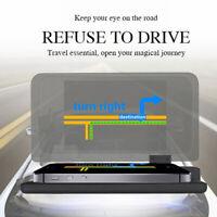 Car GPS Navigation HUD Heads Up Display Reflection Projector Smartphone Holder