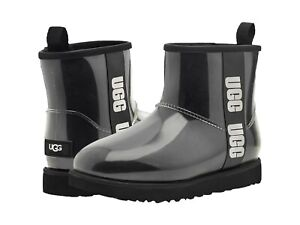 Women's Shoes UGG CLASSIC CLEAR MINI Waterproof Ankle Boots 1113190 BLACK