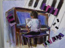 Original Painting - More Music, Please! - 16x20 - Brownie's Art Acrylic