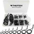 Fishing Rod Guide Repair Kit Spinning  Ceramics Stainless 8 Sizes Black 75pcs