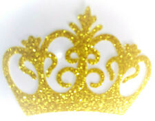 COURONNE couleur OR Patch termocollant hotfix Glitter GOLD 6x4 cm