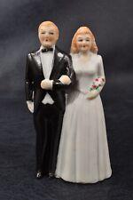CHARMING Vintage ART DECO Bisque BLONDE BRIDE GROOM Wedding Cake TOPPER Japan
