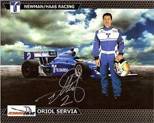 2011 Oriol Servia signed Indianapolis 500 Photo Card Postcard Izod Indy Car wCoa