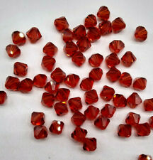 Swarovski Crystal Indian Red Bicone 5328 Beads; 4mm (24pc) or 6mm (12pc)