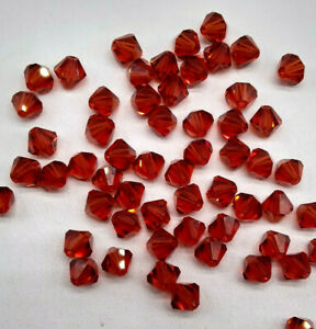 Swarovski Crystal Indian Red Bicone 5328 Beads; 4mm, 5mm, or 6mm