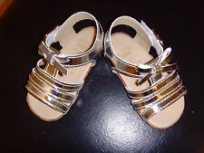 New Juicy Couture Infant/Baby Girls Silver Metallic Sandals Shoes Size 2 (3-6M)