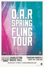 "O.A.R. ""Spring Fling Tour"" 2020 Charleston, Sc Concert Poster - Alt Rock Music"