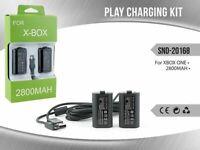 Cavo Di Ricarica + 2 Batterie 2800mah Per Controller Gamepad Xbox One mar