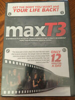 MaxT3 Exercise 2-DVD Discs, 12 Workouts Fitness Max T3 Fat Burn Muscle, RARE NEW
