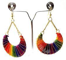 Earrings Jhumka Chand Bali Drop Dangle Long Hoop Hook LGBT Boho Chic Jewelry B37