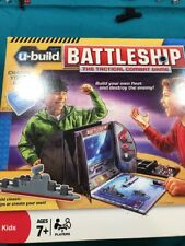 U-Build Battleship Hasbro Tactical Combat Game Opened Complete Works With Lego
