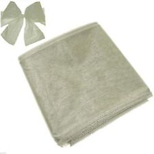 Silver Organza Chair Bows Pack of 6 - X80045