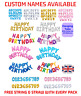 LARGE HAPPY BIRTHDAY SELF INFLATING BANNER BALLOON LETTER FOIL PARTY DECORATION