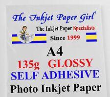 A4 135g Gloss Self Adhesive 1 Label per sheet - 50 shts