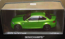 BMW 1er M Coupe 2011 Java VERDE METALLIZZATO Green Mamba 1 of 528 Minichamps 1:43 OVP
