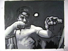 "Tony Jaa ONG BAK 16x20"" OIL PAINTING POP ART"